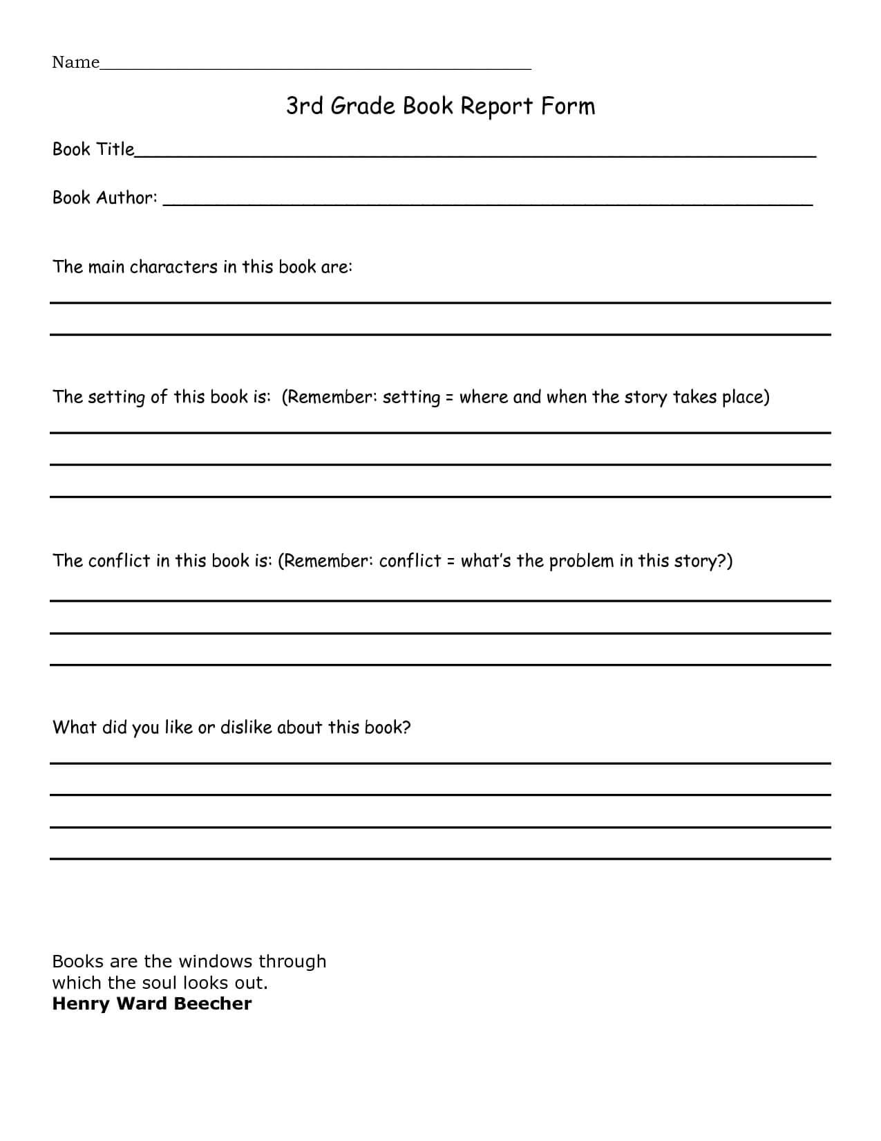 Book Report 3Rd Grade Template - Google Search | Book Report Intended For Book Report Template 3Rd Grade