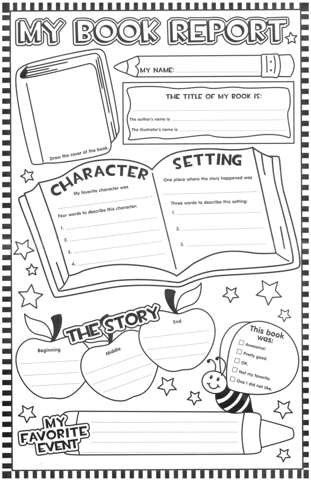 Book Report Poster (Updated) | First Grade Reading, 3Rd Intended For First Grade Book Report Template