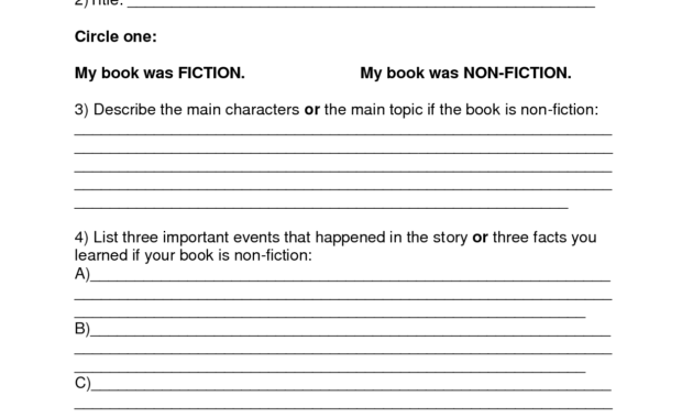 Book Report Template | Summer Book Report 4Th -6Th Grade for Book Report Template 4Th Grade