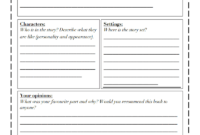 Book Review Template Differentiated.pdf – Google Drive inside Book Report Template 5Th Grade
