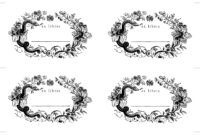 Bookplate Template | Paper Book, Words Wallpaper, Ex Libris throughout Bookplate Templates For Word