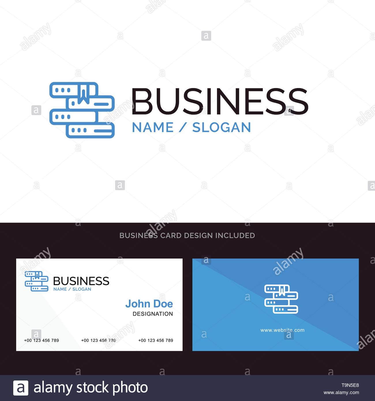 Books, Education, Library, Study Blue Business Logo And With Library Catalog Card Template