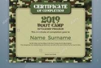 Boot Camp Internship Program Certificate Template Design inside Boot Camp Certificate Template