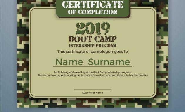 Boot Camp Internship Program Certificate Template intended for Boot Camp Certificate Template