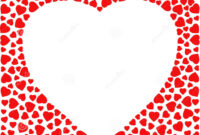 Border With Red Hearts. Greeting Card Design Template for Small Greeting Card Template