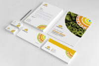 Branding Stationery Set. A Collection Of Branding/identity in Business Card Letterhead Envelope Template