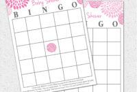Breathtaking Baby Shower Bingo Template Ideas Pdf Printables in Blank Bridal Shower Bingo Template