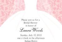 Bridal Shower Invitations Templates Microsoft Word – Forza for Blank Bridal Shower Invitations Templates