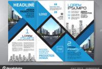 Brochure 3 Fold Flyer Design A4 Template. — Stock Vector within E Brochure Design Templates