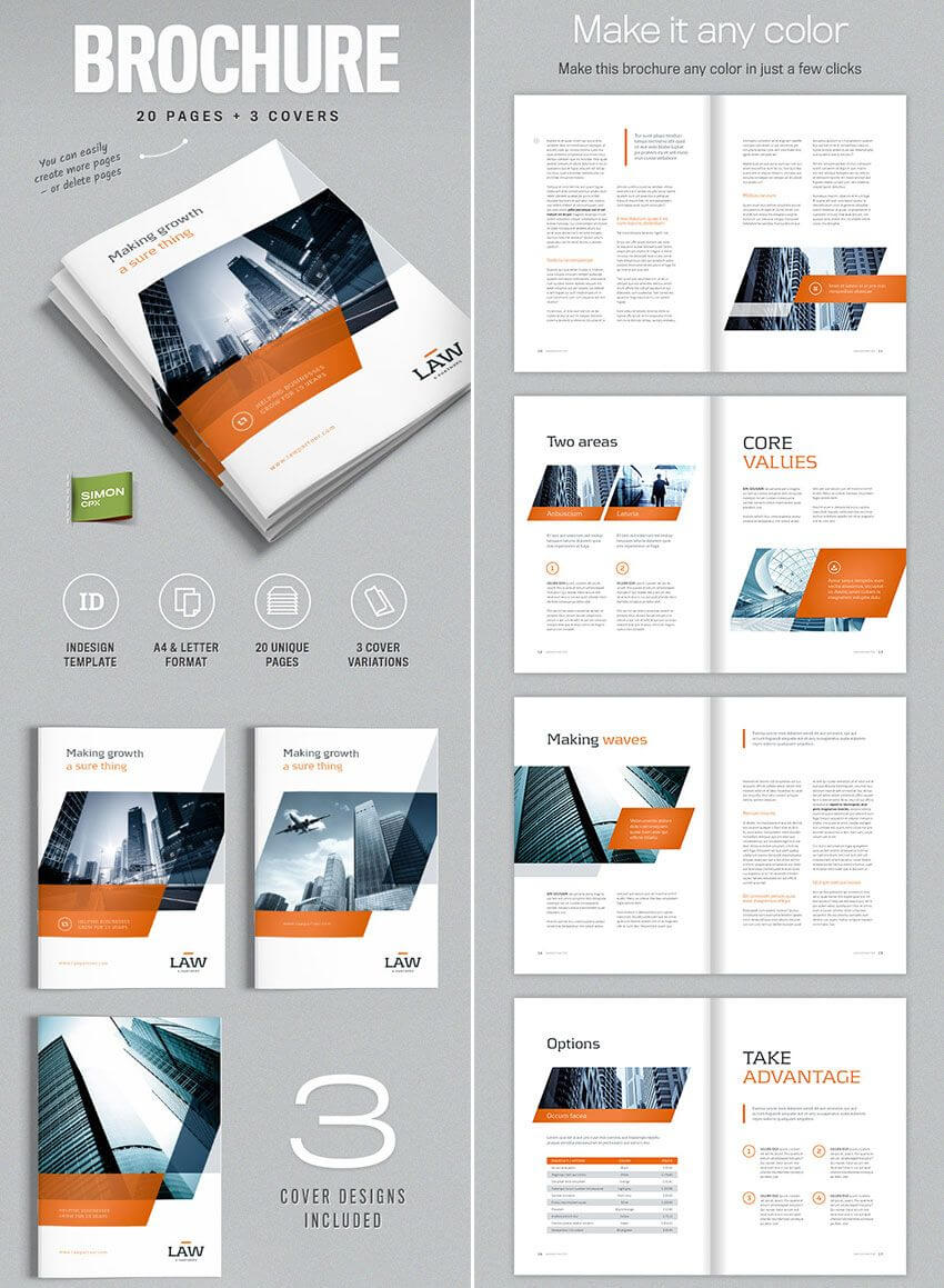 Brochure Template For Indesign - A4 And Letter | Indesign Regarding Indesign Templates Free Download Brochure