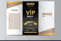 Brochure Template For Vip Party in Brochure Template Illustrator Free Download