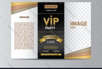 Brochure Template For Vip Party with Free Illustrator Brochure Templates Download