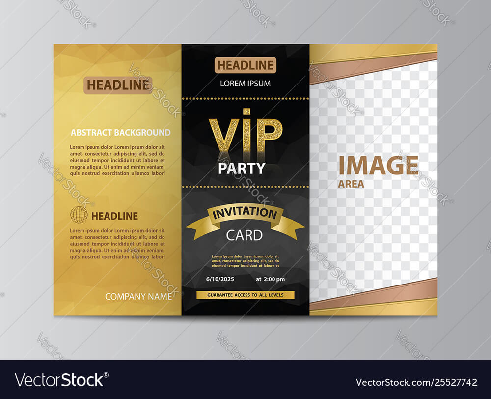 Brochure Template Invitation For Vip Party Inside Membership Brochure Template