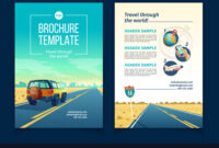 Brochure Template With Tourist Concept pertaining to Travel And Tourism Brochure Templates Free