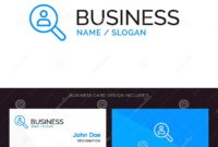 Browse, Find, Networking, People, Search Blue Business Logo pertaining to Networking Card Template