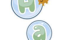 Bubble Guppies Happy Birthday Decorations Printable | Bubble in Bubble Guppies Birthday Banner Template