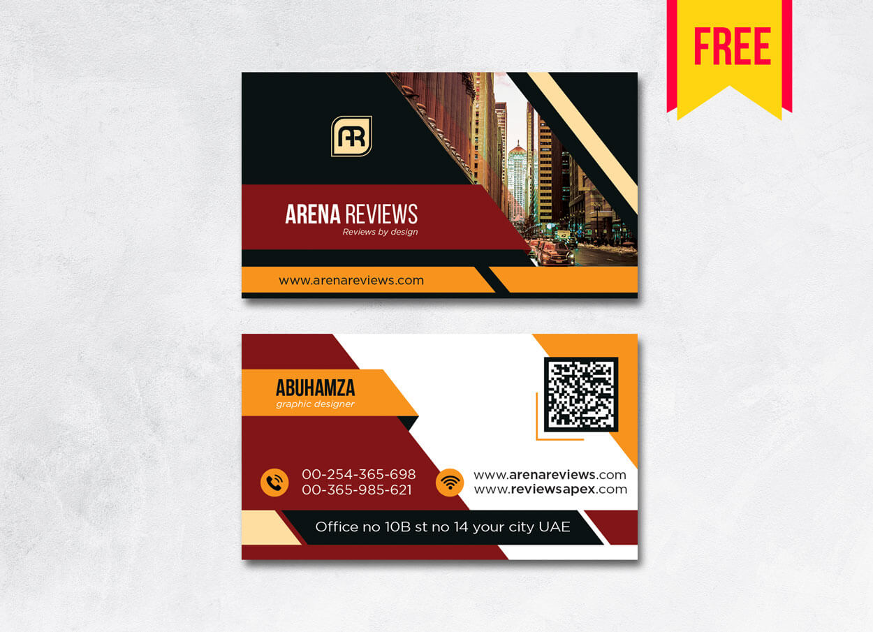 Building Business Card Design Psd – Free Download | Arenareviews For Templates For Visiting Cards Free Downloads