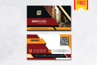 Building Business Card Design Psd – Free Download   Arenareviews With Blank Business Card Template Download