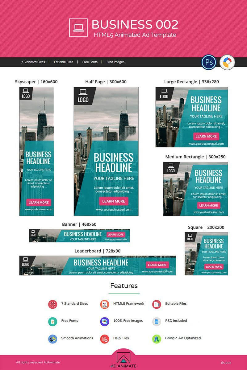 Business 002 - Html5 Ad Animated Banner #71312 | Web Banner Throughout Animated Banner Template