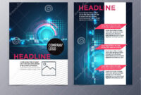 Business And Technology Brochure Design Template Vector Tri for Technical Brochure Template