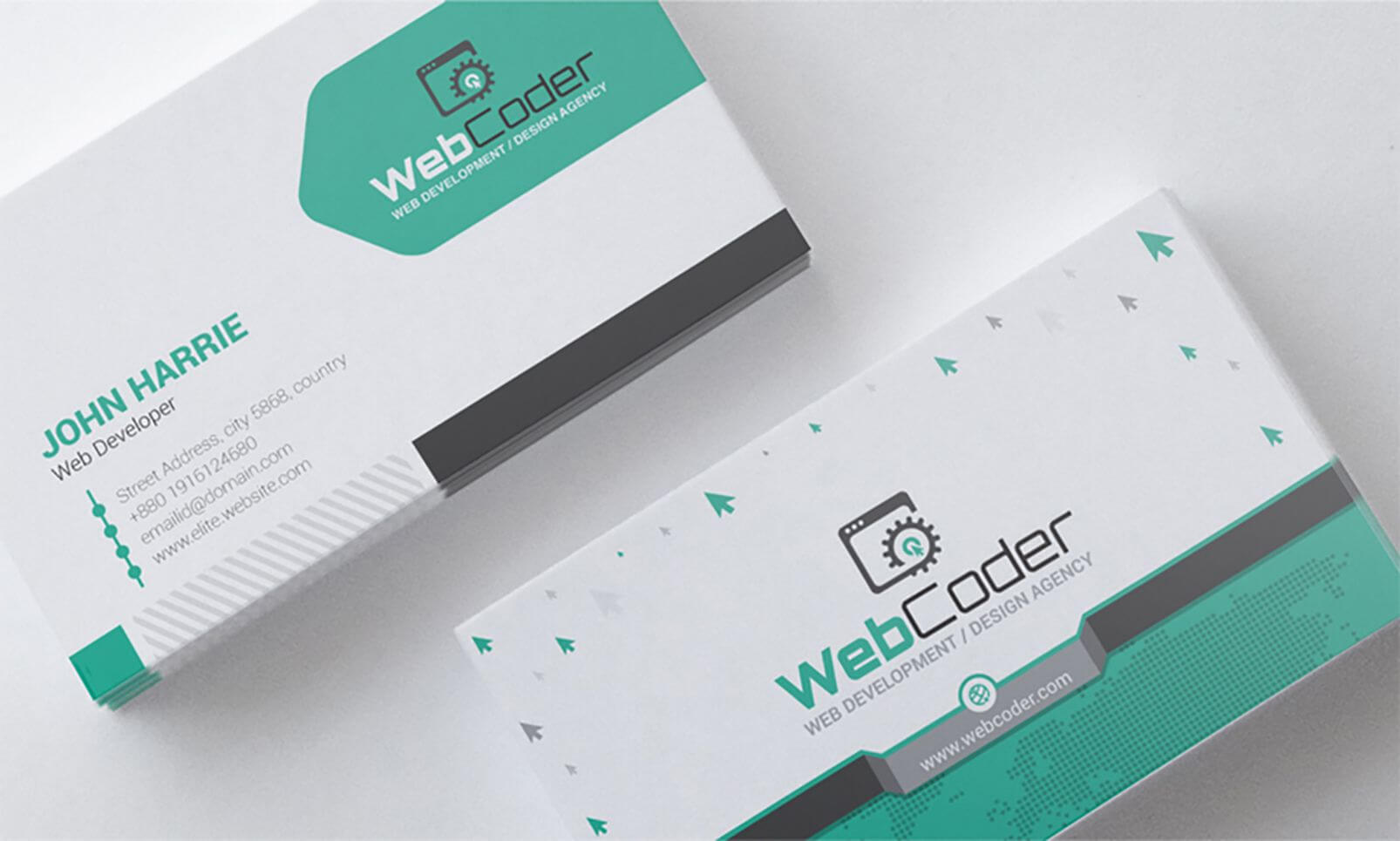 Business Card Design For Web Design And Developer Psd Pertaining To Web Design Business Cards Templates