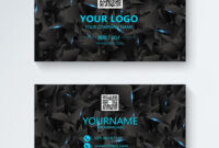 Business Card Design Of Black Science And Technology inside Free Personal Business Card Templates