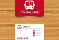 Business Card Template. Bus Sign Icon. Public Transport With.. with Transport Business Cards Templates Free