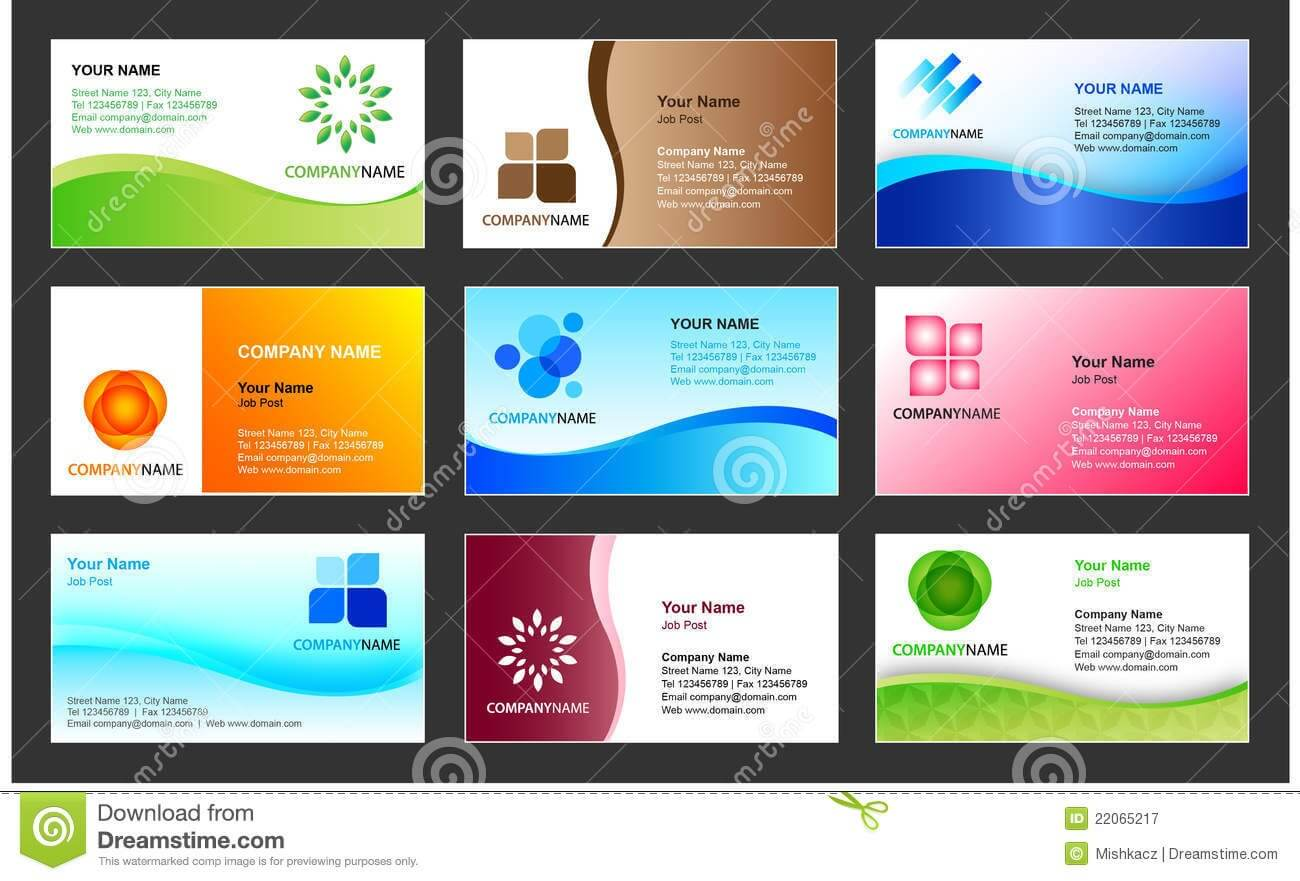 Business Card Template Design Stock Vector - Illustration Of Pertaining To Calling Card Free Template