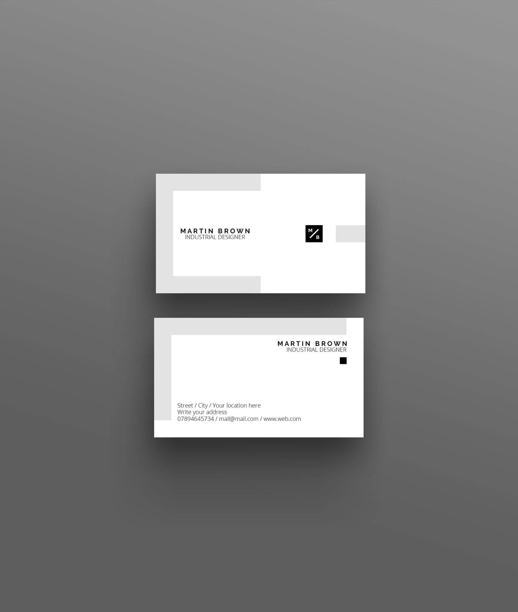 Business Card Template For Adobe Photoshop / Psd File In Photoshop Name Card Template