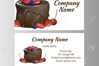 Business Card Template For Bakery Business. within Cake Business Cards Templates Free