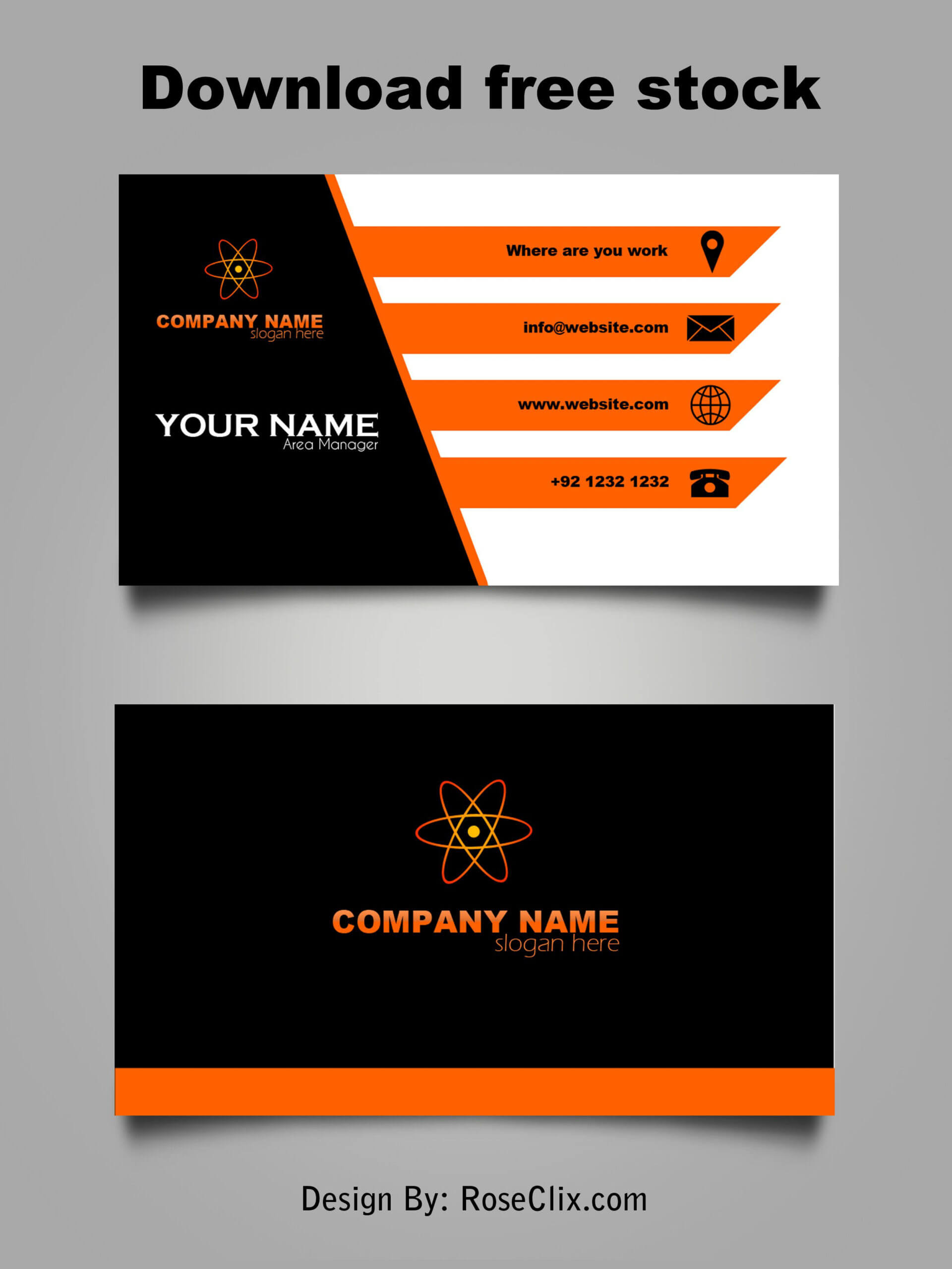 Business Card Template Free Downloads Psd Fils. | Free Intended For Visiting Card Templates Download