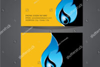 Business Card Template Plumbing Heating Air Stock Vector In Hvac Business Card Template