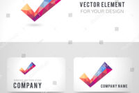 Business Card Template Set Vector Polygonal Stock Vector in Acceptance Card Template