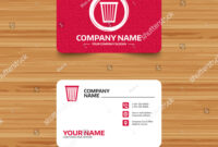 Business Card Template Texture Recycle Bin Stock Vector with regard to Bin Card Template