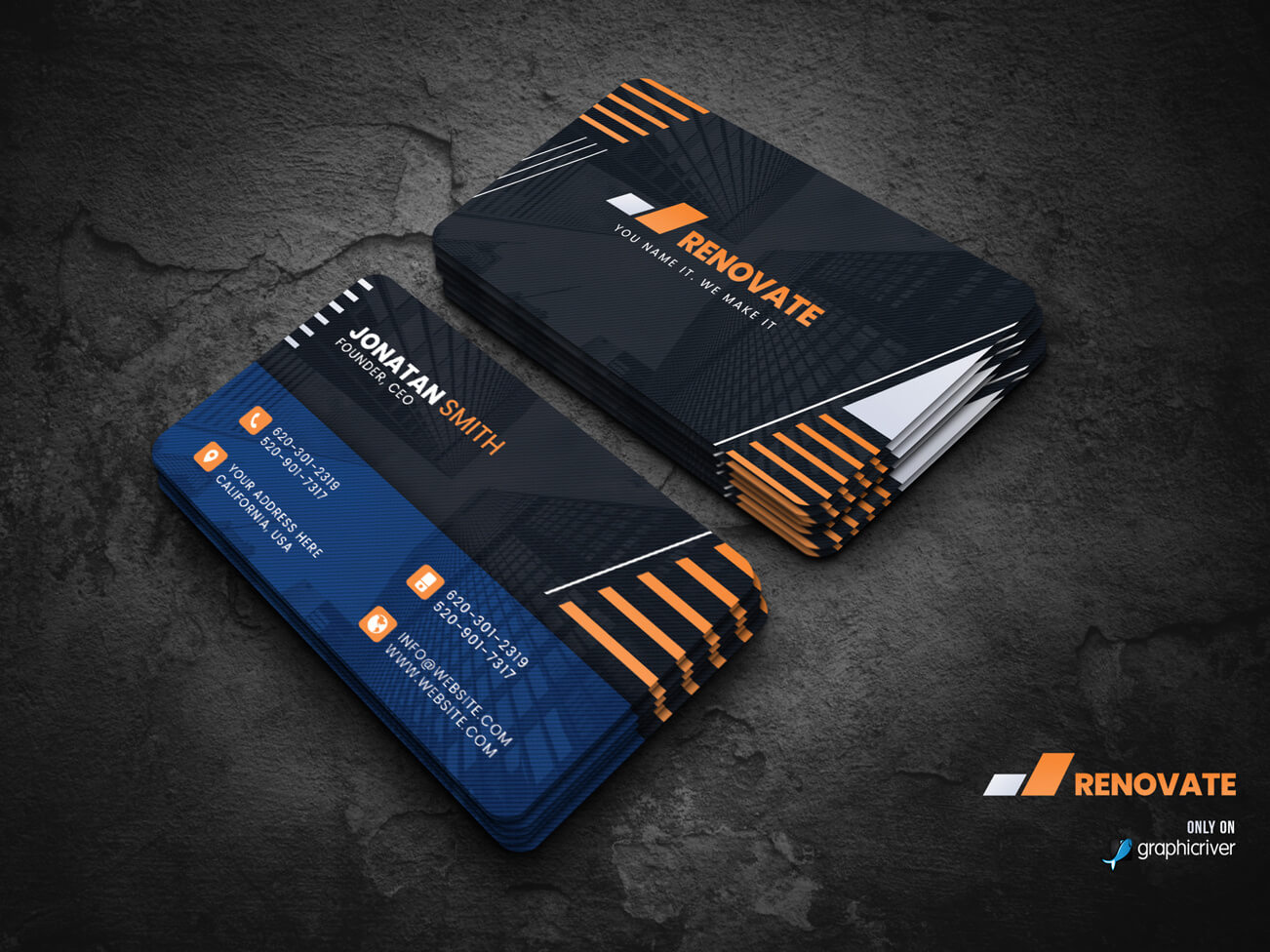 Business Card Templatedalibor Stankovic On Dribbble For Photoshop Name Card Template