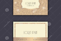 Business Card Templates With Glitter Shining Background with regard to Celebrate It Templates Place Cards
