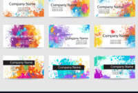 Business Cards Templates Made Of Paint Stains throughout Advertising Cards Templates