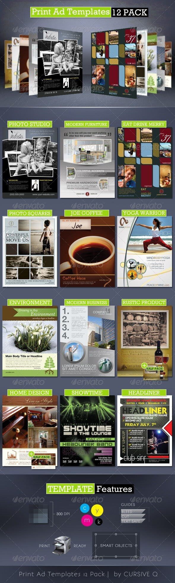 Business Flyer Templates From Graphicriver With Magazine Ad Template Word
