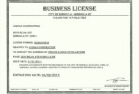 Business License Certificate Template in Track And Field Certificate Templates Free