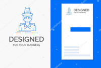 Business Logo Detective Hacker Incognito Spy Thief Vertical for Spy Id Card Template