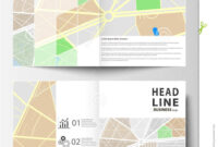 Business Templates For Bi Fold Brochure, Magazine, Flyer Or regarding Blank City Map Template