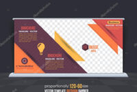Business Theme Outdoor Banner Design, Advertising Vector pertaining to Outdoor Banner Design Templates