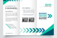 Business Tri Fold Brochure Template Design With inside Brochure Template Illustrator Free Download