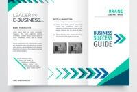 Business Tri Fold Brochure Template Design With inside Brochure Template Illustrator Free Download