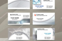Businness Card Template Horizontal Banner Background Metal With One Sided Brochure Template