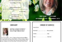 Butterfly Memorial Program | Memorial Cards For Funeral throughout Memorial Card Template Word