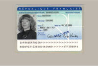 Buy French Original Id Card Online, Fake National Id Card Of Intended For French Id Card Template