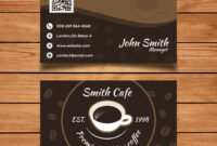 Byteknight Designs | Cafe/ Coffee Shop Visiting Card Design within Coffee Business Card Template Free