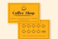 Cafe Loyalty Card | Loyalty Card Design, Loyalty Card inside Loyalty Card Design Template