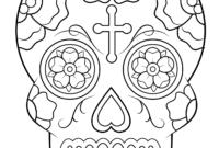 Calavera (Sugar Skull) Coloring Page | Free Printable with regard to Blank Sugar Skull Template